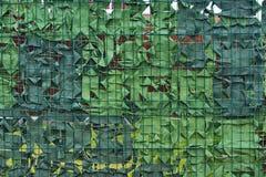 Leger het militaire camouflage groene netto maskeren stock foto