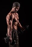 Leger, militaire, sterke mens, gewichten, het uitoefenen, gymnastiek Stock Fotografie
