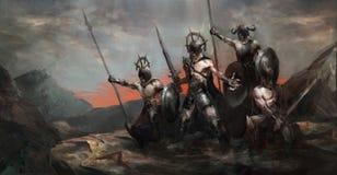 Leger in oorlog royalty-vrije illustratie