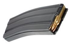LEGER van de V.S. m-16 geweertijdschrift met patronen Stock Fotografie