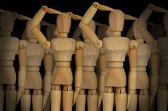 Leger van marionetten Stock Foto's