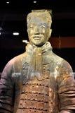 Leger van Terracottastrijders en Paarden, Xian, China stock foto