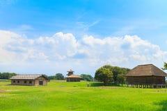 Legerbarak en wapenopslag in Kikuchi-Kasteel Stock Fotografie