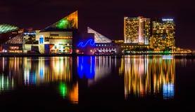 Legg泥工大厦和全国水族馆在晚上,在I 免版税库存图片