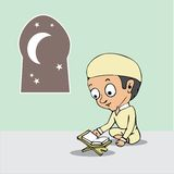 Legga il fumetto santo di Corano Fotografia Stock Libera da Diritti