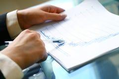 Legga il rapporto finanziario fotografia stock libera da diritti