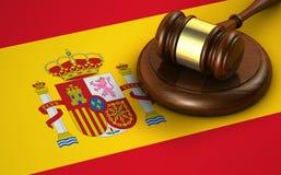 Legge della Spagna e concetto di legislazione Fotografia Stock Libera da Diritti