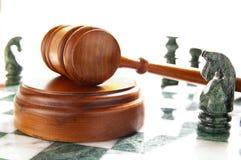Legge di scacchi Fotografia Stock Libera da Diritti
