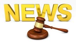Legge e concetto legale di notizie Fotografia Stock Libera da Diritti