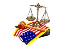 Legge e giustizia americane Immagine Stock