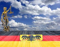 Legge e ordine della Germania fotografia stock libera da diritti