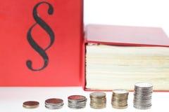 Legge e soldi Fotografia Stock Libera da Diritti
