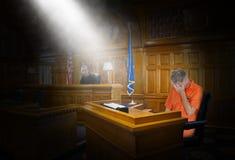 Legge, giustizia, crimine, punizione, giudice, condannato, prigioniero fotografia stock libera da diritti