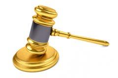 Legge o giudice Concept Hammer Immagini Stock