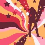 legged длинняя самомоднейшая сексуальная женщина иллюстрация штока
