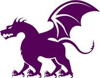 4 legged dragon vector. File eps Royalty Free Stock Photos