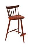 Legged drie wooeden geïsoleerdeo stoel Stock Afbeeldingen
