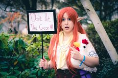 Leggenda del cosplay di Zelda fotografie stock