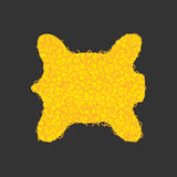 Leggendario del vello di oro isolato Manufatto giallo di magia della ram della pelliccia illustrazione vettoriale