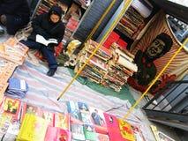 Leggendo accanto al presidente Mao Fotografie Stock Libere da Diritti