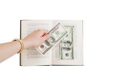 Leggendo per i fondi Fotografia Stock