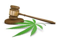 Leggi e legalizzazione di uso della droga della marijuana Fotografia Stock