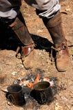 Leggings, buty & ogień, zdjęcia royalty free