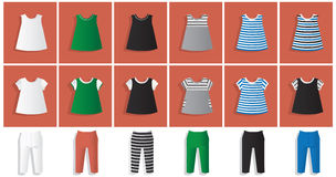 Leggings and tunic dress pattern Stock Images