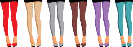 Leggins. Womanish feet Royalty Free Stock Images