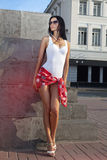 Leggy beautiful lady Royalty Free Stock Images