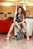 Leggy sexy young woman Royalty Free Stock Photography