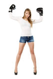 Leggy young lady Royalty Free Stock Images