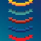 Leghi i colori con un nastro differenti Immagine Stock