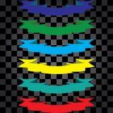 Leghi i colori con un nastro differenti illustrazione vettoriale