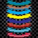 Leghi i colori con un nastro differenti royalty illustrazione gratis