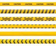 Leghi la cautela con un nastro illustrazione di stock