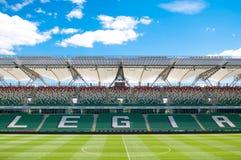Legia华沙空的橄榄球场 图库摄影