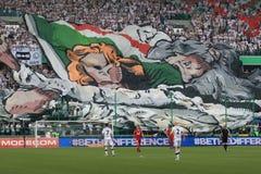 Ανεμιστήρες της Βαρσοβίας Legia Στοκ Φωτογραφίες