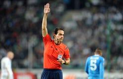 Legia för UEFA-Europaliga Warszawa SSC Napoli Fotografering för Bildbyråer