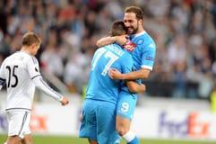 Legia för UEFA-Europaliga Warszawa SSC Napoli Arkivfoton
