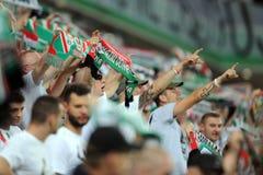 Legia Varsovia - FC Botosani - calificaciones de la liga del Europa imagen de archivo