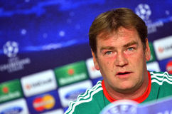 LEGIA WARSAW CHAMPIONS LEAGUE PRESS CONFERENCE Royalty Free Stock Photo