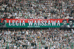 Legia Warsaw fans Stock Photography