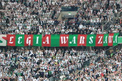 Legia Warsaw fans Royalty Free Stock Images