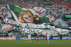 Legia Warsaw fans Stock Photos