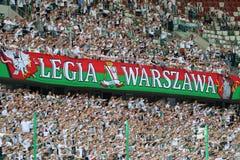 Legia Warsaw fans Stock Photo