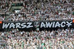 Legia Warsaw fans Stock Image