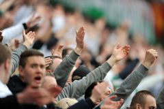 Legia Warsaw football fans Royalty Free Stock Images