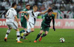 Legia Warsaw - Slask Wroclaw Royalty Free Stock Images