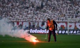 Legia Warschau - Schluss Polnischen Fußballpokals Arka Gdynia lizenzfreies stockbild